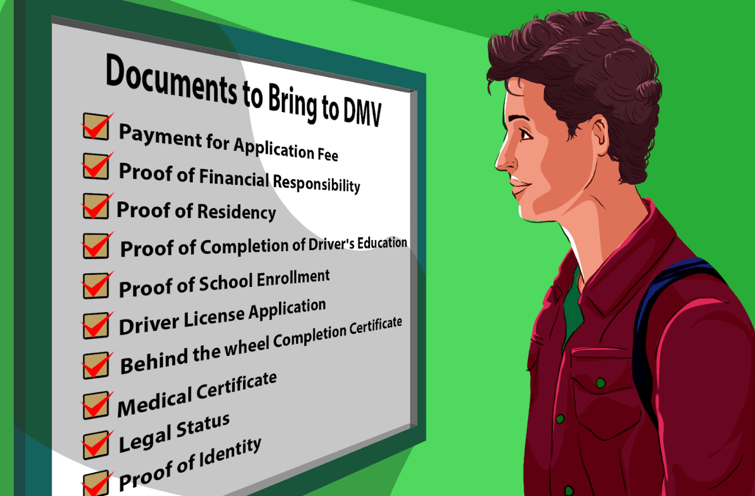 what to bring to the dmv