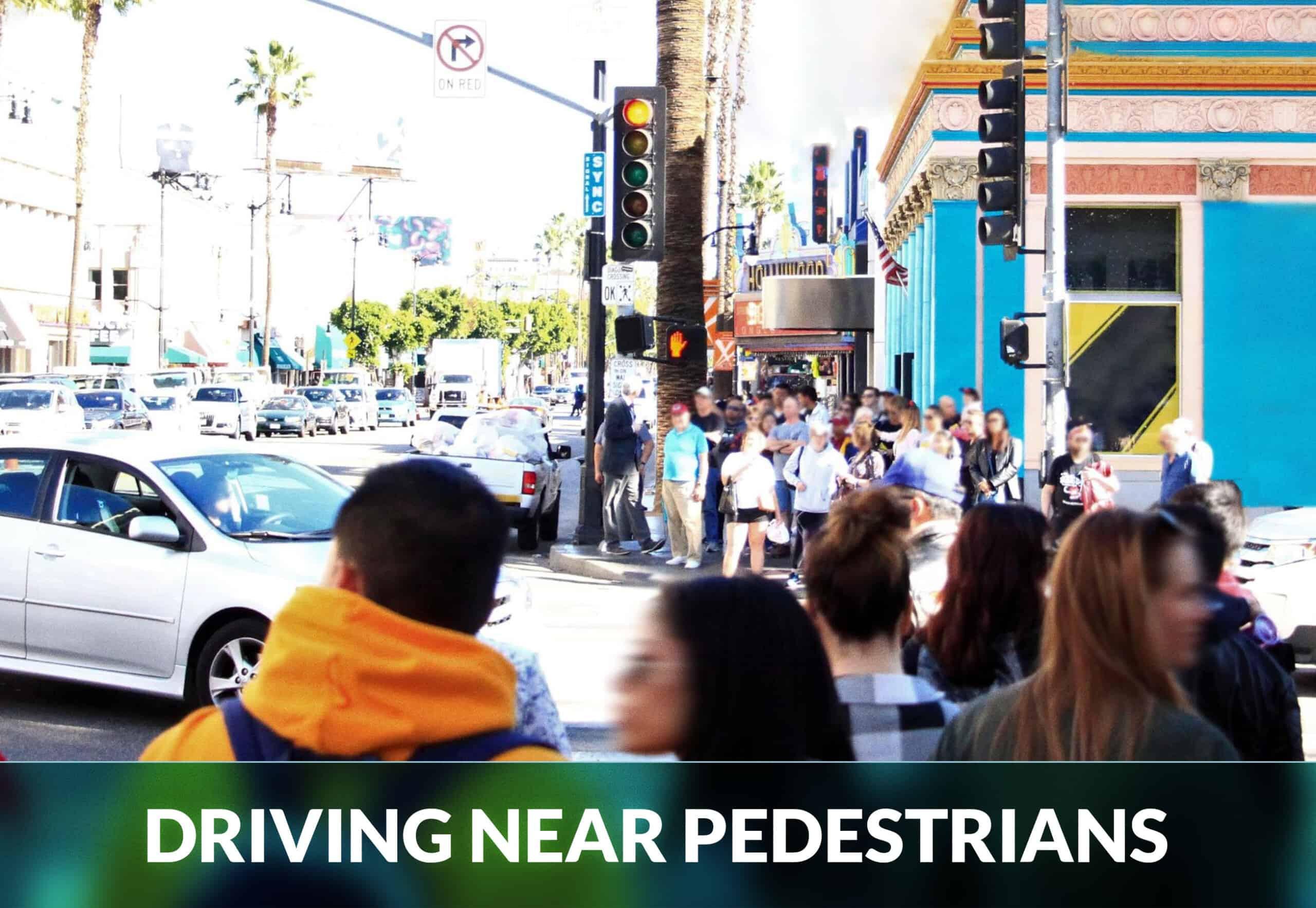 DRIVING NEAR PEDESTRIANS