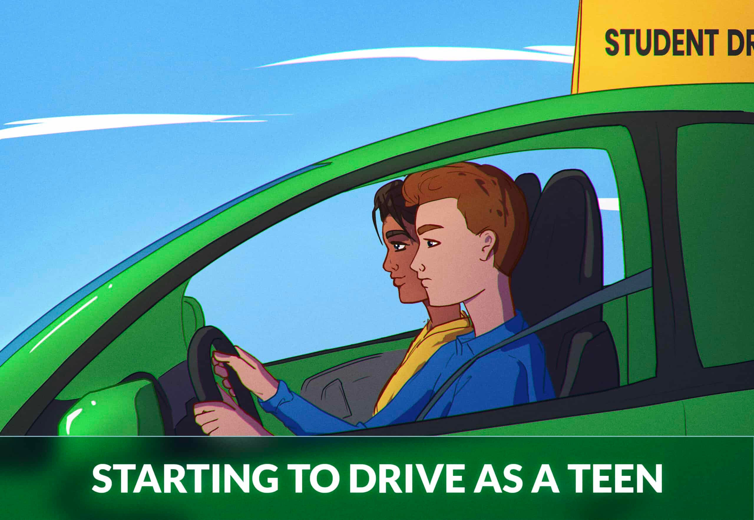 Starting to drive as a teen