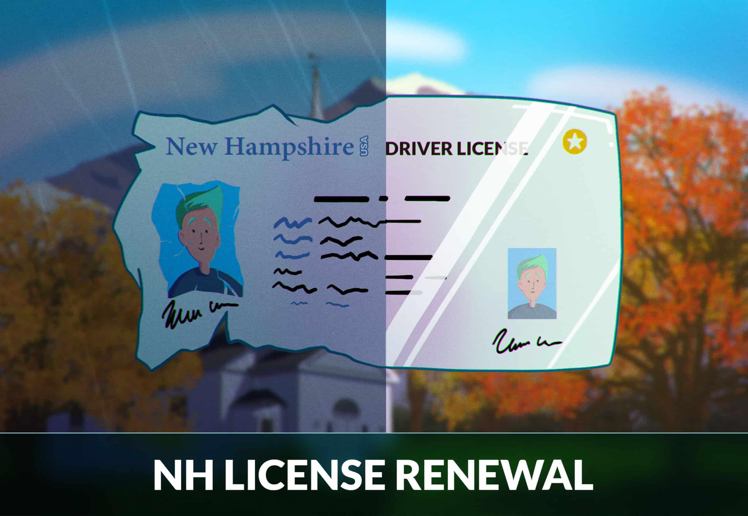 New Hamphire drivers license renewal